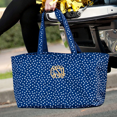 Navy Dot Ultimate Tote