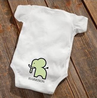 Elephant Baby Booty Bodysuit