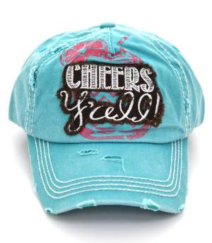 Turquoise Cheers Y'all Cap