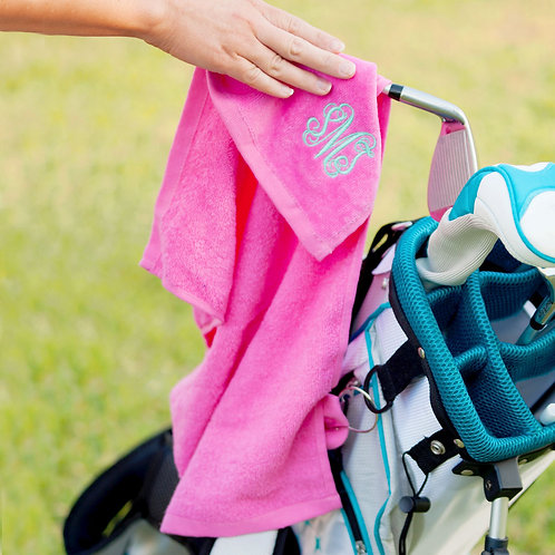 Pink Golf Towel
