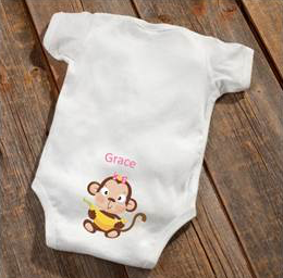 Girl Monkey Baby Booty Bodysuit