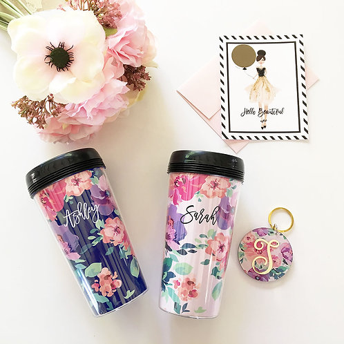 Floral Coffee Tumbler