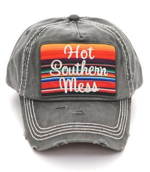 Grey Hot Southern Mess Cap