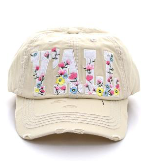 Beige Hey Y'all Floral Cap