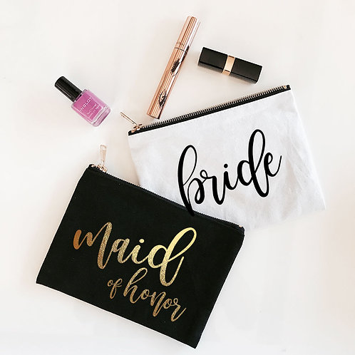 Bridal Party Cosmetic Bag
