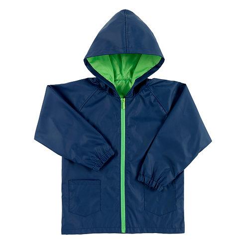 Navy Kids Rain Jacket