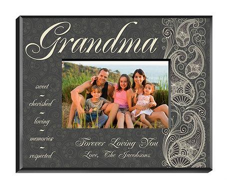 Personalized Pretty Paisley Grandma Picture Frame