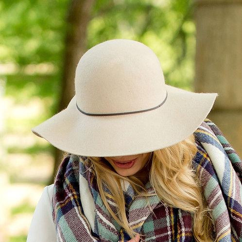 Natural Wool Floppy Hat