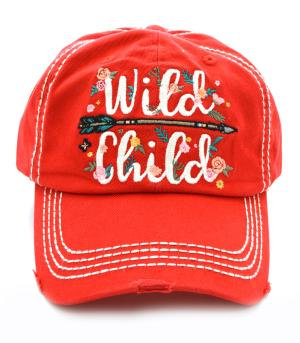Red Wild Child Cap