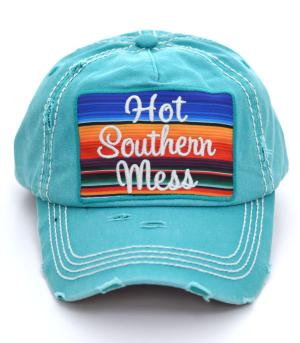 Turquoise Hot Southern Mess Cap