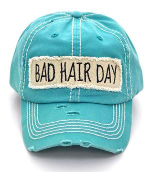 Turquoise Bad Hair Day Cap