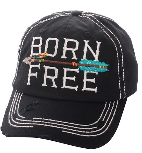 Black Born Free Cap