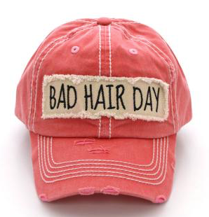 Coral Bad Hair Day Cap