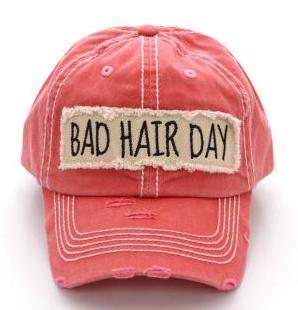 Coral Bad Hair Day Cap