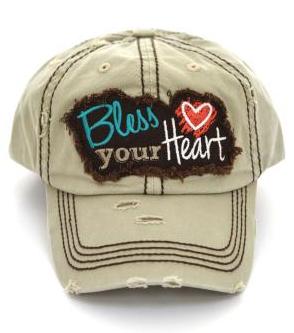 Khaki Bless Your Heart Cap
