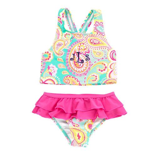 Kid's Summer Paisley Swimsuit Set