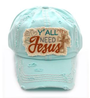 Mint Y'all Need Jesus Cap
