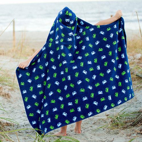 Gettin' Crabby Kid's Hooded Beach Towel