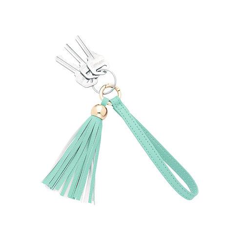 Mint Tassel Keychain