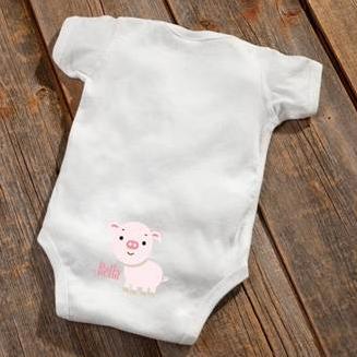 Pig Baby Booty Bodysuit