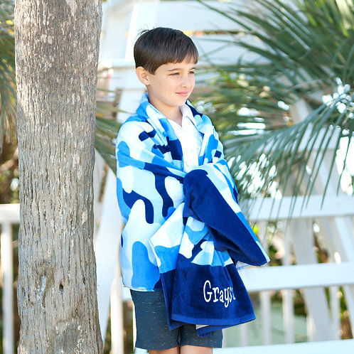 Cool Camo Beach Towel