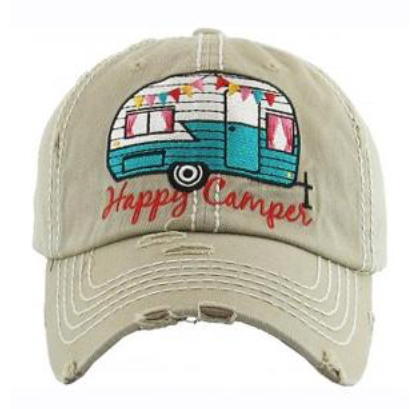 Khaki Happy Camper Cap