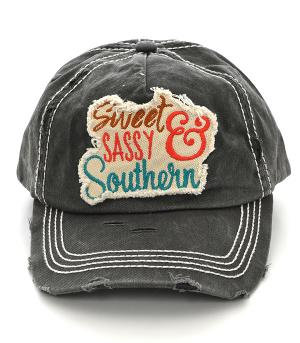 Grey Sweet Sassy & Southern Ballcap