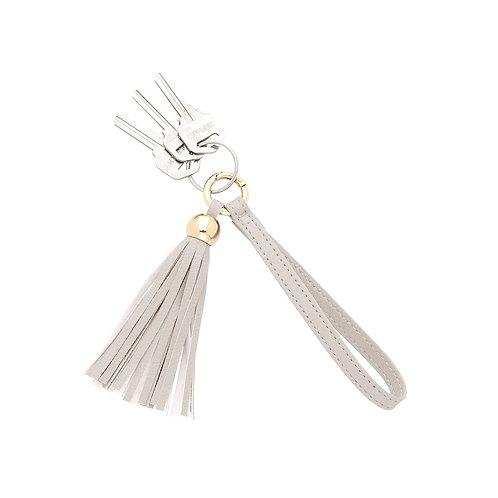 Creme Tassel Keychain