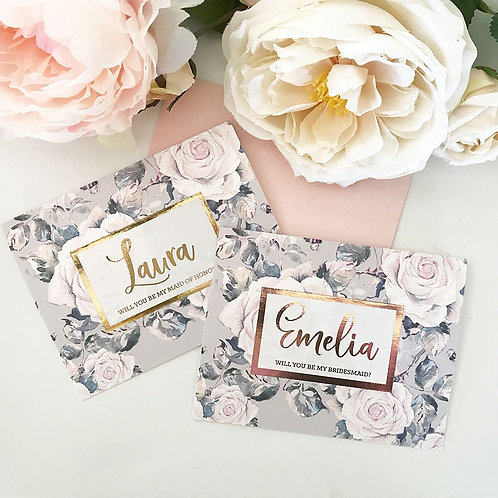 Personalized Greeting Cards - Rose Garden