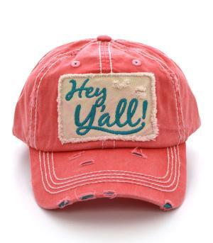 Coral Hey Y'all Cap