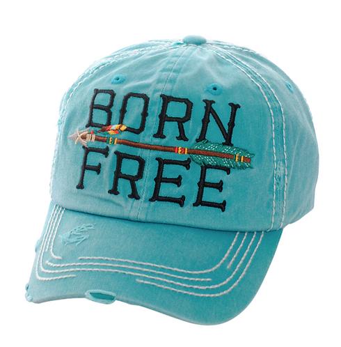 Turquoise Born Free Cap