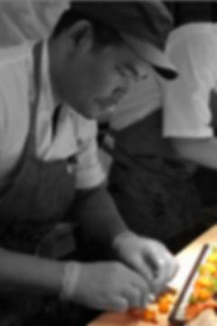 Chef Nick Korboon making omakase