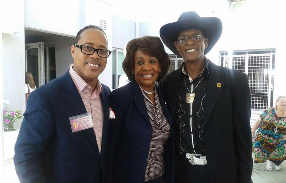 Bishop Brewer w. Congresswoman Maxine Wa