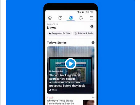 Augmented Reality Shopping and Facebook News