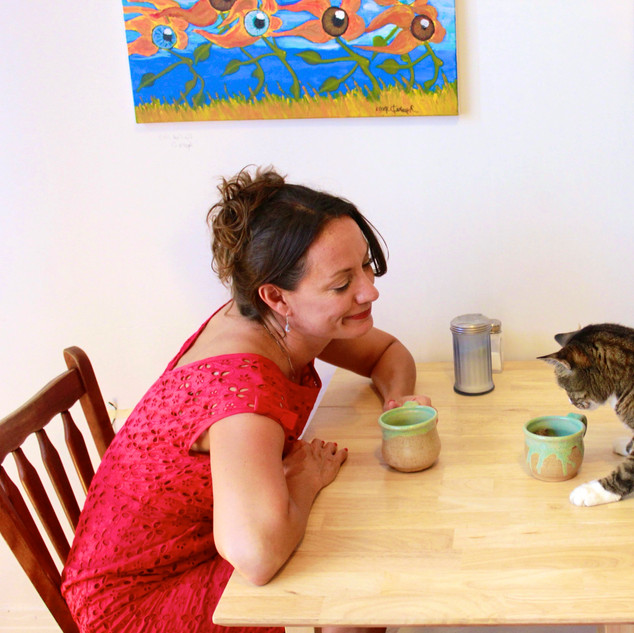 Coffee with a cat