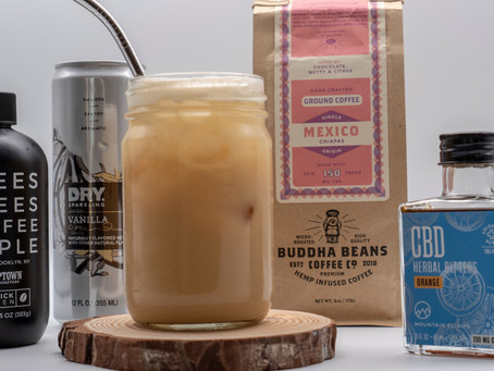 CBD Vanilla Iced Coffee