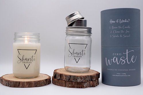 ZERO WASTE CANDLE TO COCKTAIL SHAKER KIT