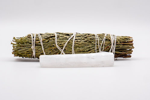 Cedar Smudge Stick and Selenite