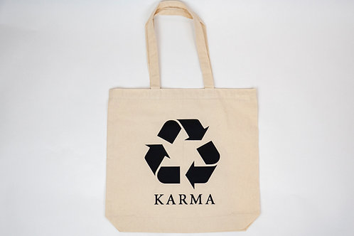 100% Recycled Cotton Karma Tote Bag