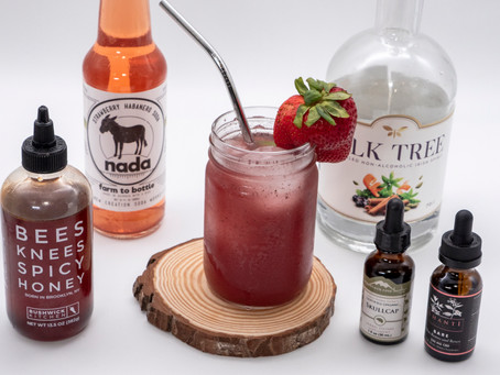 Spicy Strawberry & Acai CBD Mocktail
