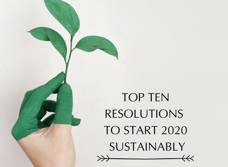 Top 10 Resolutions to Start 2020 Sustainably