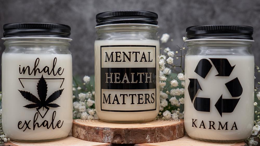 Mental Health Matters, Karma, Mason Jar Candles, Zero Waste Home Decor, Sustainability