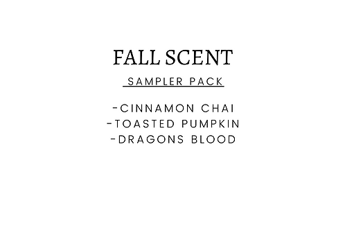 FALL SCENT SAMPLER PACK (3)