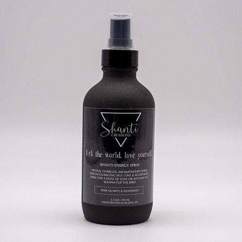 4 oz FTW, Self LOVE Energy Spray with Rose Quartz crystals & palmarosa essential oil