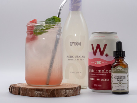Watermelon CBD Mojito Mocktail