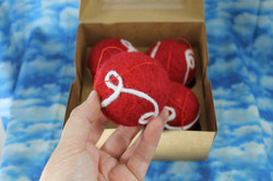Fun red and white ball ornament set