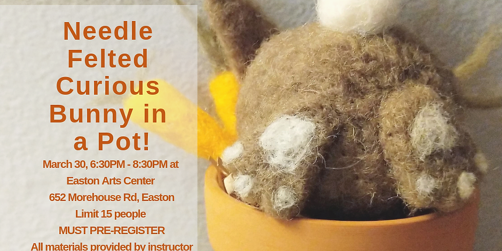 Needle Felted Curious Bunny Workshop