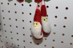 Set of three Santa Ornaments
