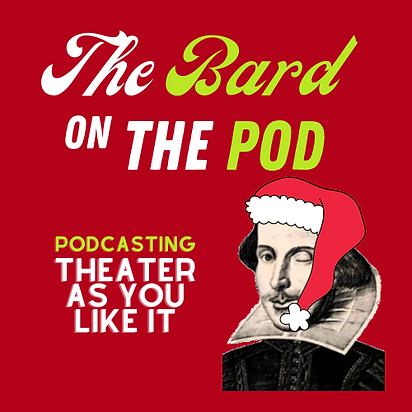 Podcast Logo xmas - The Bard On The Pod.