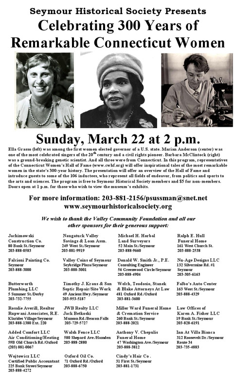 Celebrating 300 Years of Remarkable CT Women